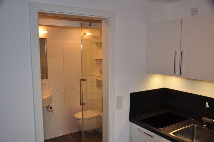 Ferienhaus Lütthüs Bad und Küche